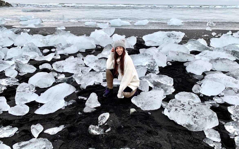 plage de diamand Islande